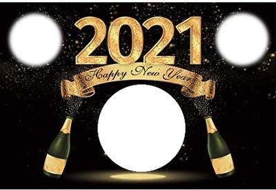 3 photos new year 2021