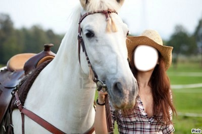 cheval et cowgirl