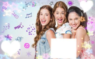 Montagem Violetta e amigas