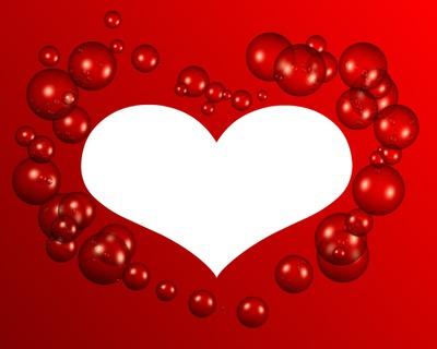 Montage photo coeur avec des bulles 1 photo cadre pixiz - Coeur avec des photos ...