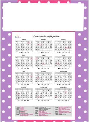 Calendario 2016 Argentina.Photo Montage Calendario Pixiz