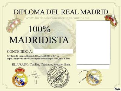 real madrid diploma