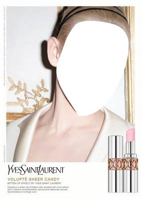 Yves Saint Laurent Rouge Volupte Sheer Candy Advertising
