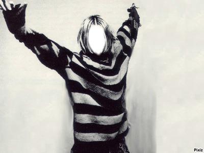 Photo montage Kurt Cobain - Pixiz