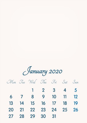 Calendrier Mensuel 2020 2019.Montage Photo January 2020 2019 To 2046 Vip Calendar