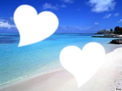 2 coeur sur la plage