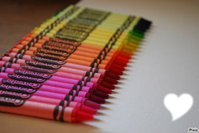 coeur crayons