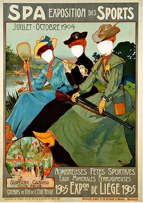 three belle époque sportsgirls