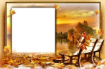 Cadre - paysage d'automne