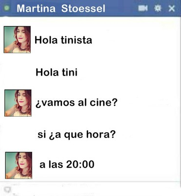 chat falso de tini stoessel