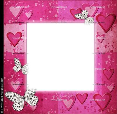 cuadro de mariposas rosas