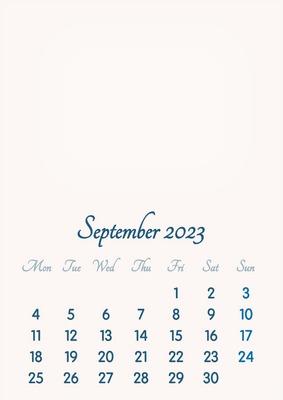 September 2023 // 2019 to 2046 // VIP Calendar // Basic Color // English