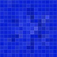 Bleu avec des coeurs