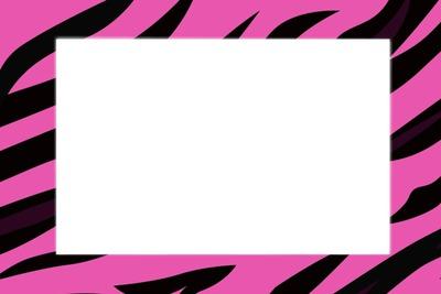 Fotomontaggio Quadro Zebra Rosa E Preto Pixiz