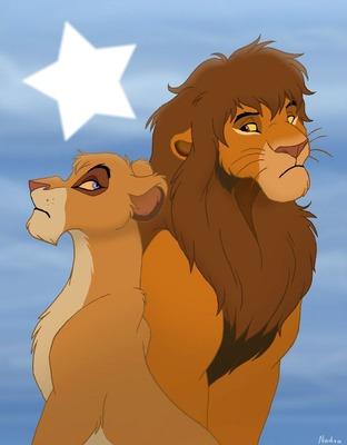 Lion king Vitani and Kopa