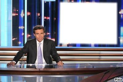 scene, journal télévisé