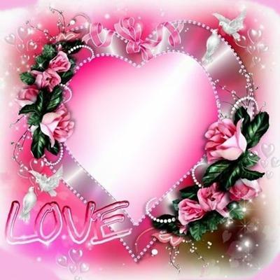 Love corazón con rosas