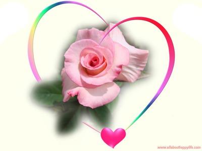 Cœur avec rose