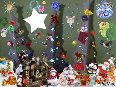 3 sapins de Noel fait par Gino Gibilaro avec deco picmix