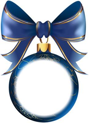 bola de natal azul