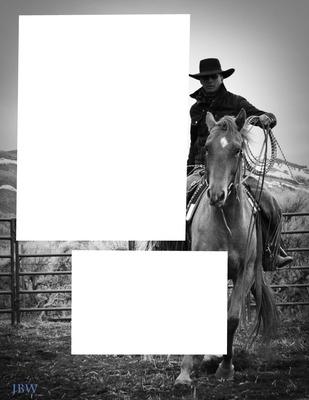 2 cadres cowboy