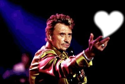 Johnny Hallyday avec coeur