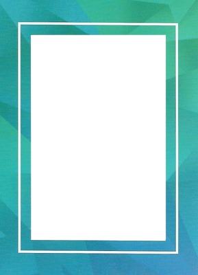 Cadre bleu-vert