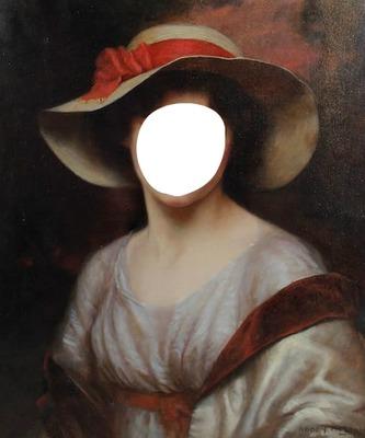 portrait lady chapeau