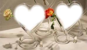 vase  en forme de coeur
