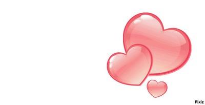 cadre coeurs roses