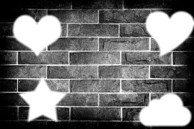 sur un mur