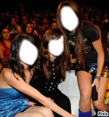 Miley Cyrus,Selena Gomez et Demi Lovato