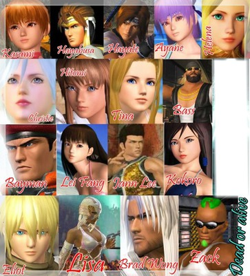 dead or alive 4 personnage