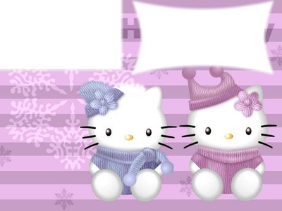 Photo Montage Cadre Hello Kitty Pixiz
