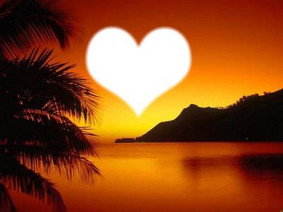 montage photo lever du soleil avec son coeur pixiz. Black Bedroom Furniture Sets. Home Design Ideas