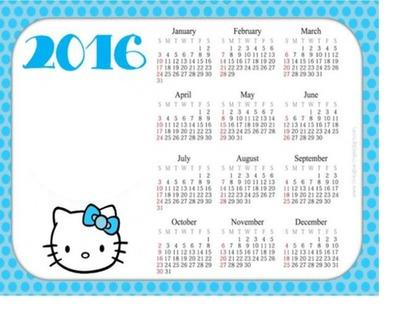 2016 Hello Kitty Calendar