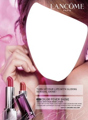 Lancome Color Fever Shine Advertising