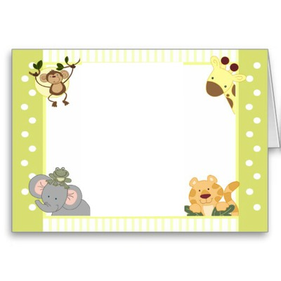 Photo montage carta de safari para bebes - Pixiz