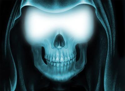 Visage dans squelette