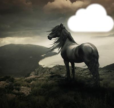 cheval nuage