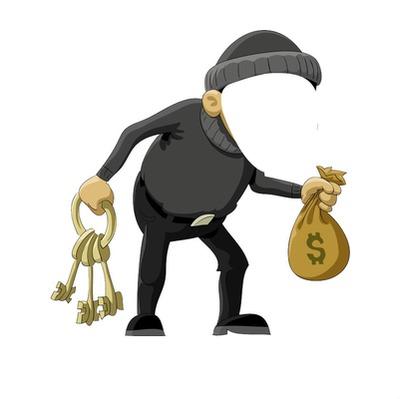 robber, thief, cartoon,