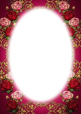 rózsás képkeret