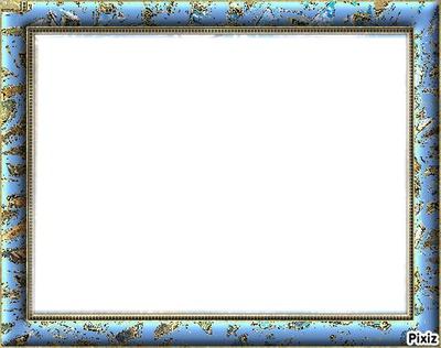 cadre bleu chiné