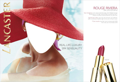 Lancaster Rouge Riviera Spa Lipstick Advertising
