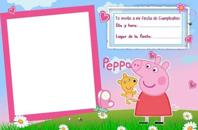 Montaje Fotografico Invitacion Pepa Pig Pixiz