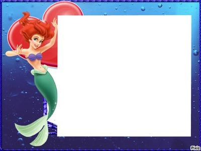 Photo montage little mermaid - Pixiz