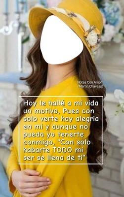 renewilly chica de amarillo y sombrero