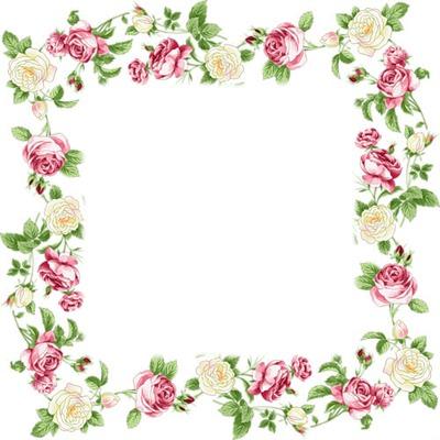 photo montage cadre fleur rose pixiz. Black Bedroom Furniture Sets. Home Design Ideas