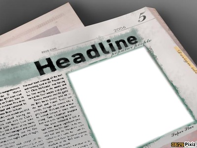 1ere page du journal (1 photo)
