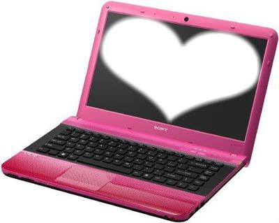 ordinateur rose